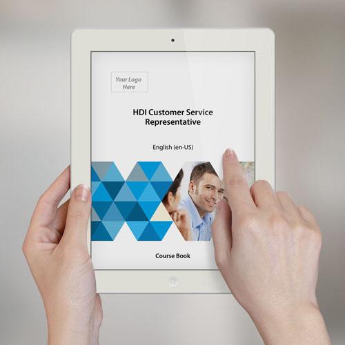 HDI Customer Service Representative - Course Book product photo Front View EL