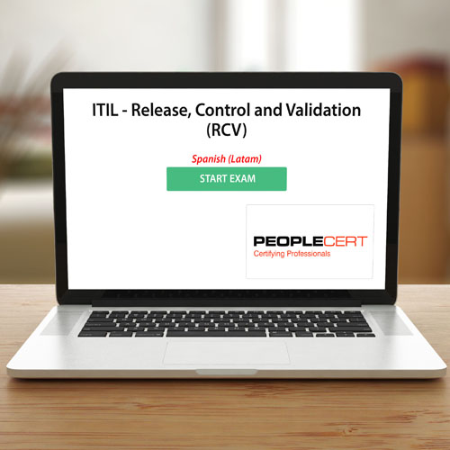 Peoplecert ITIL - Release, Control and Validation (RCV) - Exam product photo Front View EL
