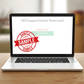 HDI Support Center Team Lead - Sample Exam product photo