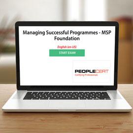 Managing Successful Programmes - MSP Foundation - Exam product photo