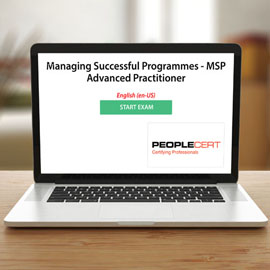 Managing Successful Programmes - MSP Advanced Practitioner - Exam product photo