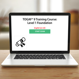 TOGAF® 9 Training Course: Level 1 Foundation -  Voucher - Exam product photo