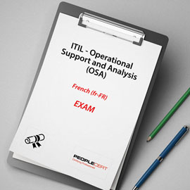 ITIL - Operational Support and Analysis (OSA) - Exam product photo