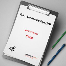 Peoplecert ITIL - Service Design (SD) - Exam product photo