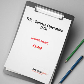 Peoplecert ITIL - Service Operation (SO) -  - Exam product photo