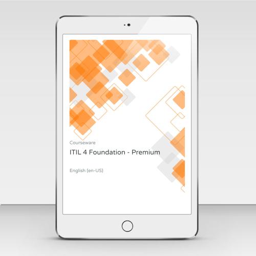 ITIL 4 Foundation - ITpreneurs Premium - Course Book product photo Front View EL