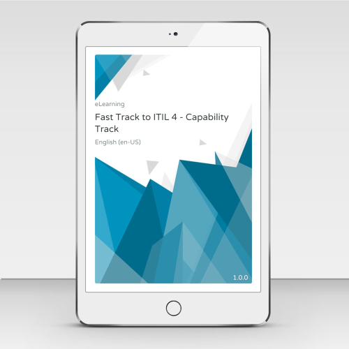Fast Track to ITIL 4 - Capability Track - Online Self Study Program - eLearning product photo Front View EL