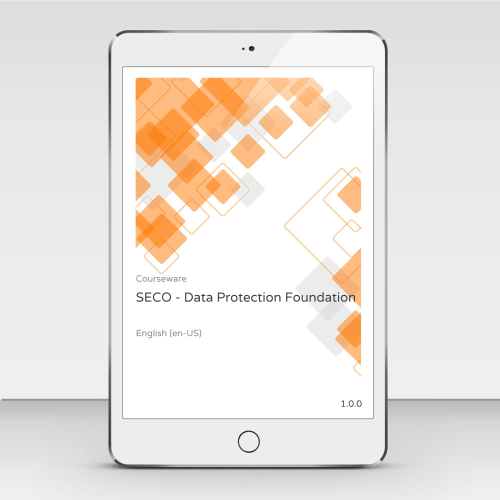 SECO - Data Protection Foundation - Course Book product photo Front View EL