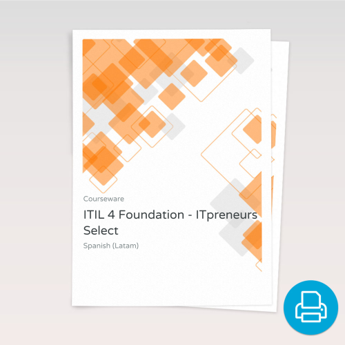 ITIL 4 Foundation - ITpreneurs Select - Course Book product photo Front View EL