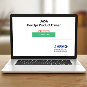 DASA - DevOps Product Owner - Exam - APMG - Exam product photo