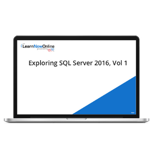 Exploring SQL Server 2016, Vol 1 - eLearning Course product photo