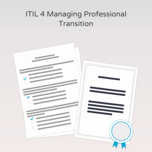ITIL 4 Managing Professional Transition - Exam product photo