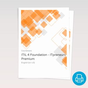 ITIL 4 Foundation - ITpreneurs Premium - Course Book product photo