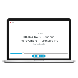 ITIL 4 Trails - Continual Improvement - ITpreneurs Pro - Course Video product photo