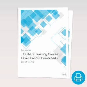 TOGAF® 9 Training Course: Level 1 and 2 Combined - Course Book product photo