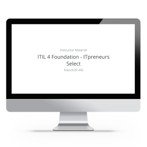 ITIL 4 Foundation - ITpreneurs Select - Instructor Material product photo